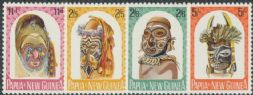 Papua New Guinea SG51-4 Native Artefacts set of 4